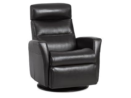 IMG Divani RG 225 Medium Glider Relaxer Rocking Recliner Swivel Chair    Premium Aniline Sand Leather