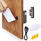 Invisible Electronic Cabinet Lock Kit Set Hidden DIY Lock with USB Cable for Wooden Cabinet Drawer Pantry Locker RFID…