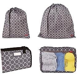 PackRightDiaper Bag LaunDry Organizer Kit, Grey/White