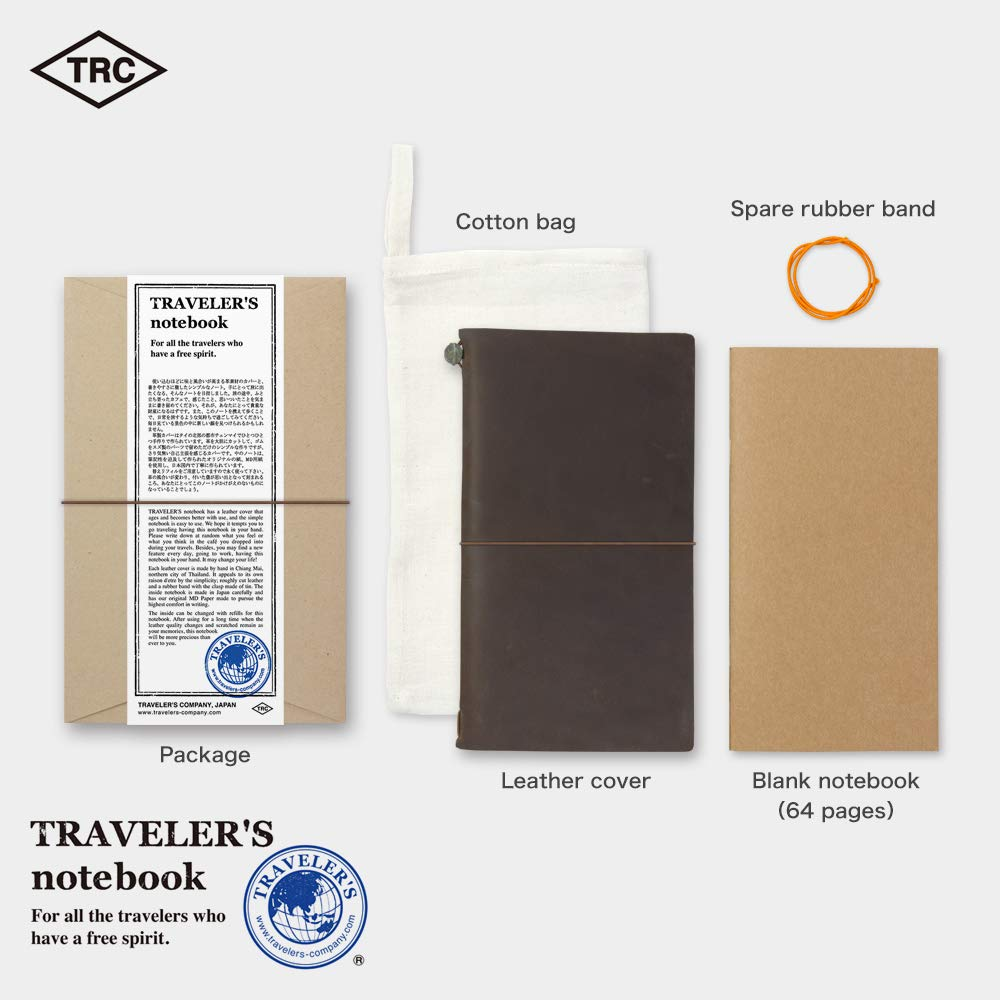 Travelers Notebook Brown Leather (1, 1 LB) by Xekia (Image #4)