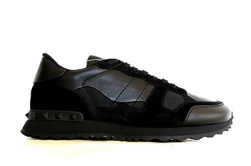 31fed3015d7 VALENTINO GARAVANI Men's Trainers Black Camouflage Nero Black Size ...