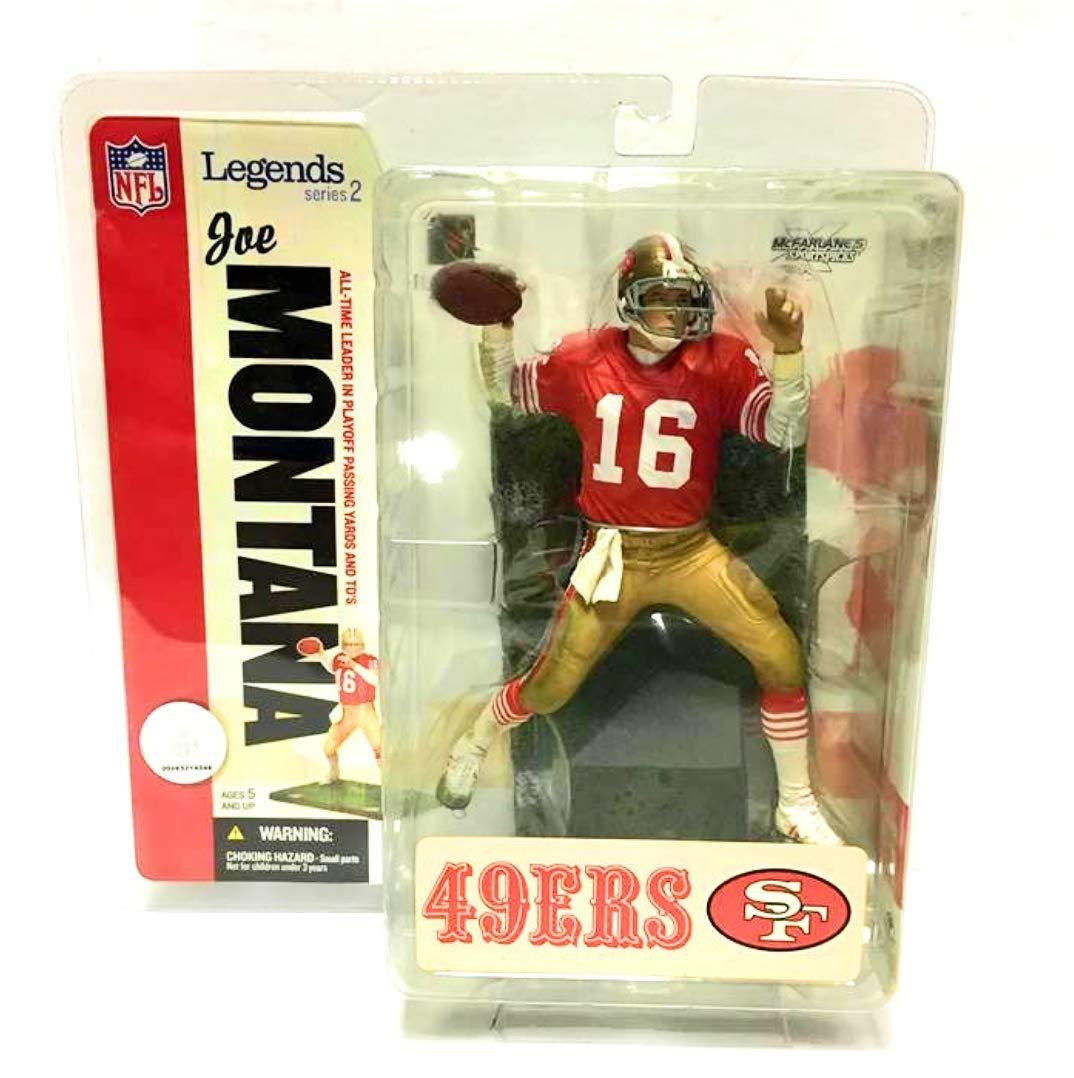 8395cf34 Joe Montana #16 San Francisco 49'ers Forty Niners Red Jersey McFarlane NFL  Legends Series 2