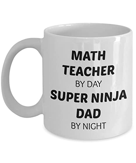 Amazon.com: Matemáticas profesor taza – Super Ninja Papá ...