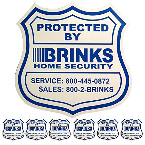 1 Home Security Yard Sign 6 Security Decals For Doors And ()