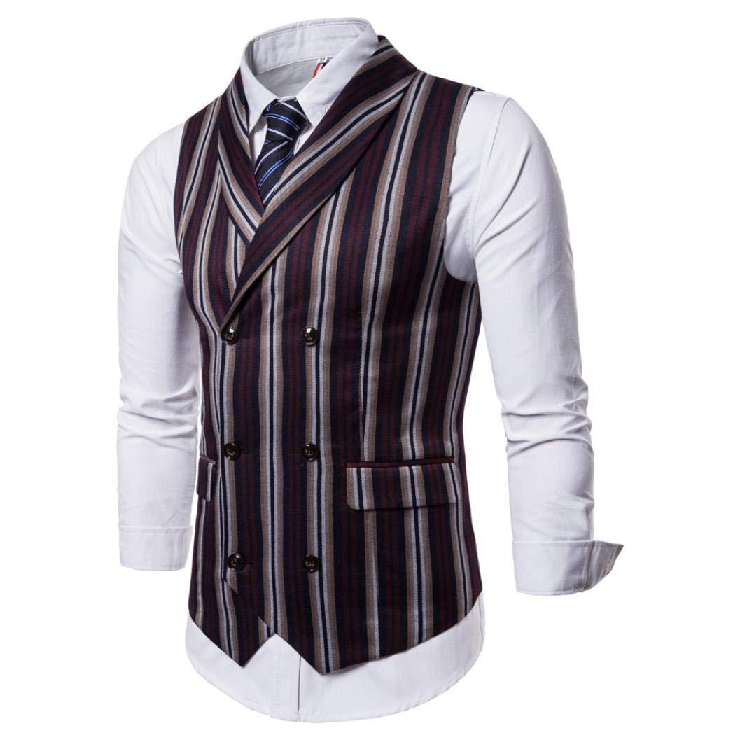 Veston de Costume Slim Rayures Homme Bleu,Overdose Hiver Soldes Skinny Hommes Wedding Smoking V/êtements Casual Suit Jacket Workwear