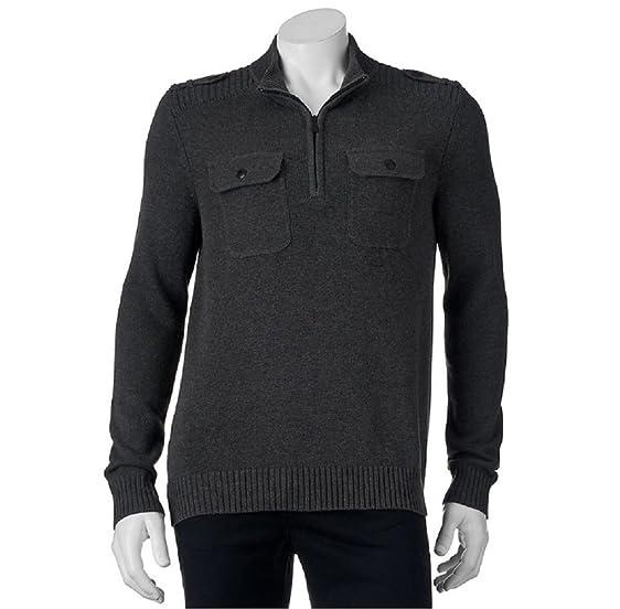 Amazon.com: Men\'s Apt 9 Modern Fit Mockneck Quarter-Zip Sweater ...