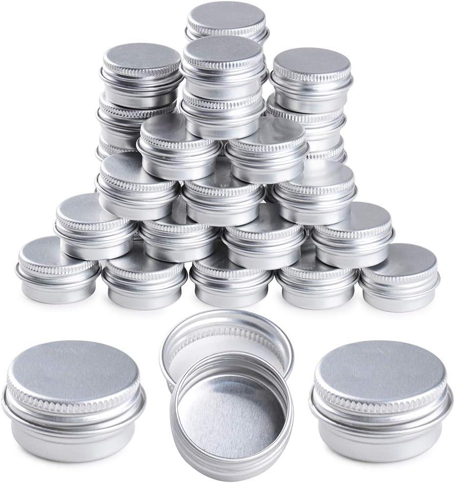 35 Unidades Tarros de Aluminio 5ml Latas Aluminio Vacías Envases Contenedores Botes Cajas Metal Pequeñas