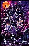 Opticz Treehouse Blacklight Poster by Joseph Charron 23 x 35in