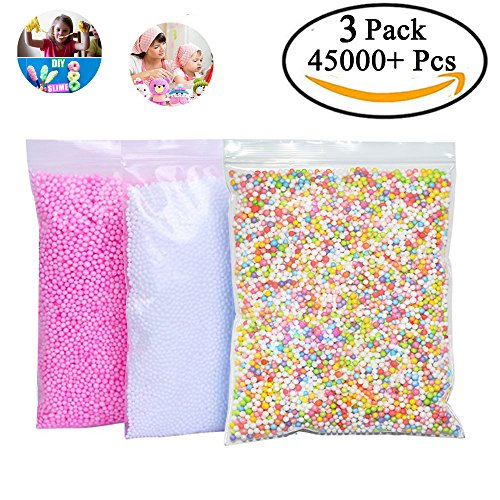 Buy Cheap Foam Balls for Slime,Haicheng Colorful Mini Styrofoam Balls Beads Assorted 3 Pack 45000 Pi...