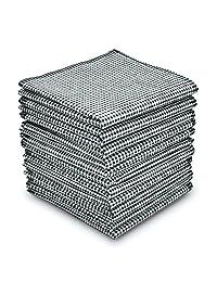 """Men's Handkerchiefs 100% Cotton Classic Plaid 16"""" large Black"""