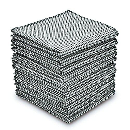 EcoHanky Men's Handkerchiefs 100% Cotton 12-piece Plaid Hankies 16'' Large by EcoHanky