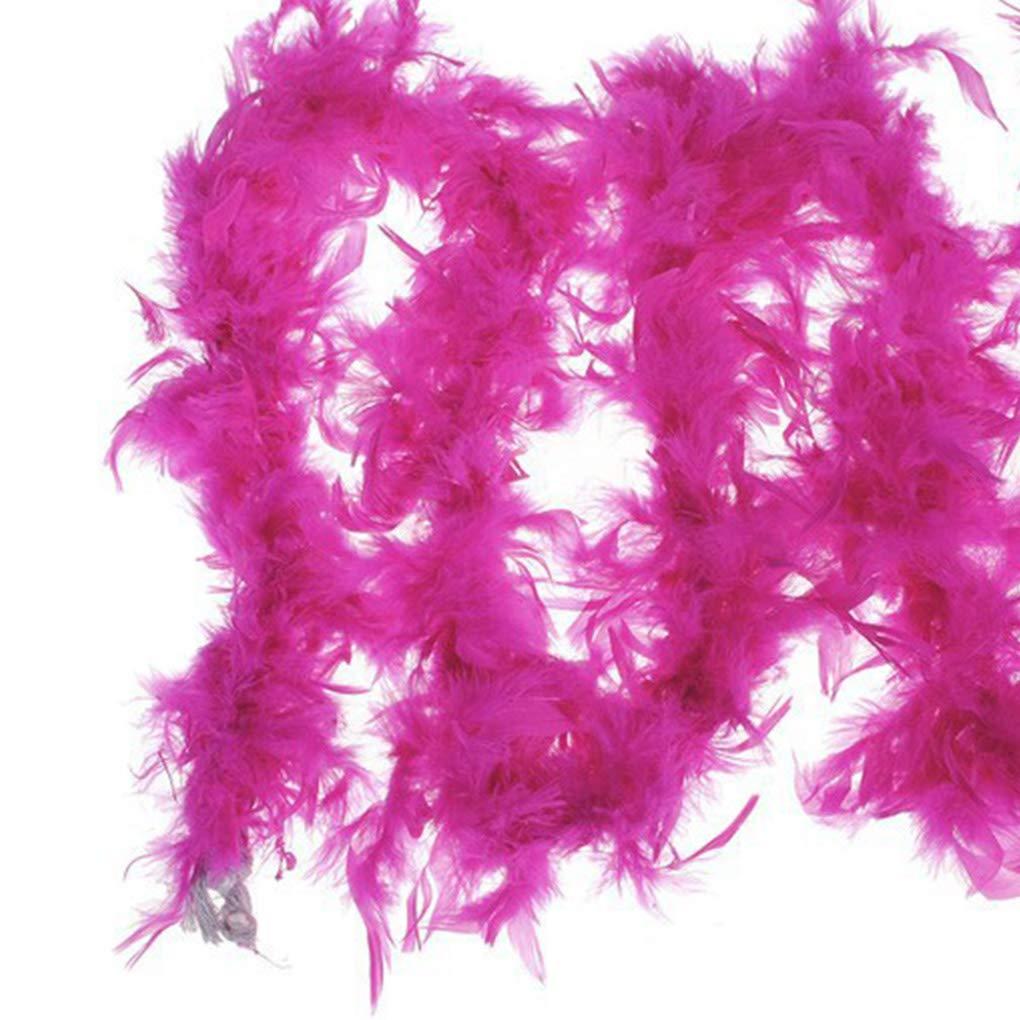 Timlatte 2 m/ètres Plumes Design Strip v/êtements de d/éguisement Boa D/écorations de soir/ée de Mariage D/écor Solide Couleur Rose 12 200cm