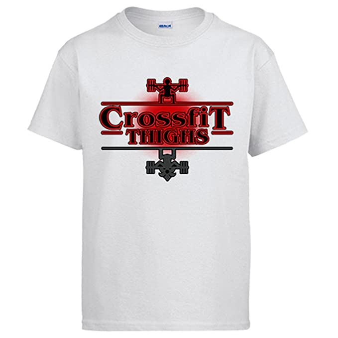 Diver Camisetas Camiseta Stranger Things Crossfit Thighs Pesas: Amazon.es: Ropa y accesorios