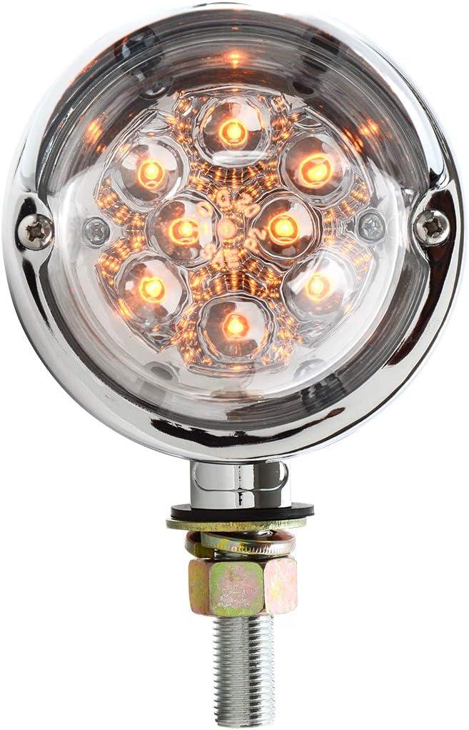 GG Grand General 77926 Amber//Clear Spyder Led Rim Lens 2 Function