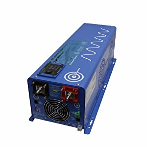 AIMS Power PICOGLF40W24V120V 4000 Watt Pure Sine Inverter Charger, 24Vdc to 120Vac Output, Remote Panel Available, Auto Frequency, Terminal Block, Multi Stage Smart Charger, 7 Battery Type Settings