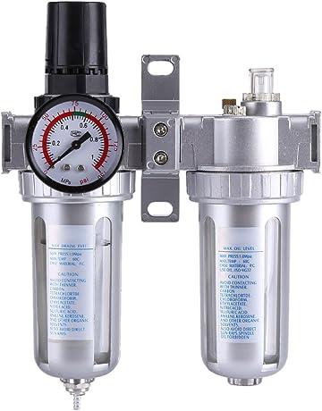 Haofy Regulador del Filtro de Aire Neumática Compresores de Aire SFC300 3/8