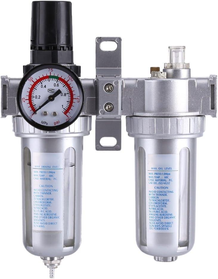 FTVOGUE SFC300 3/8'' Air Compressor Filter Regulator Moisture Water Trap Cleaner Separator Tool