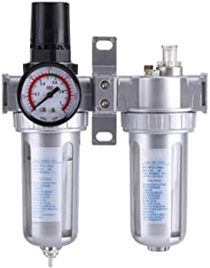 Regulador de presión de aire Filtro trampa de separadores agua//aceite NUEVO compresor aerógrafo