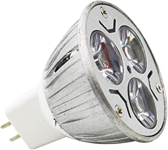 Pack Of 1 Gu5 3 Mr16 Led Light Bulb 12 V Warm White 3 W Gu5 3 Socket Bulbs High Compatibility Warm White 3000 K 48 Mm Diameter Aluminium 240 Lm Amazon Co Uk Lighting