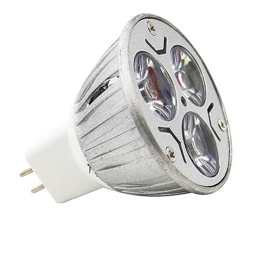 1 pieza GU5.3 MR16 LED bombilla 12 V blanco cálido 3 W, GU