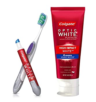 Amazon Com Colgate Optic White Toothpaste And Whitening Pen 2 In 1 Teeth Whitening Kit Beauty