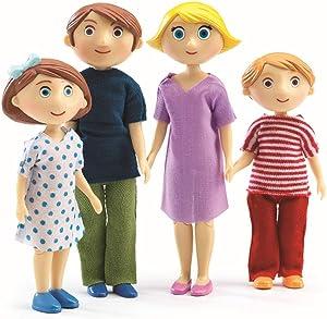 DJECO Dollhouse Gaspard & Romy's Family Figures