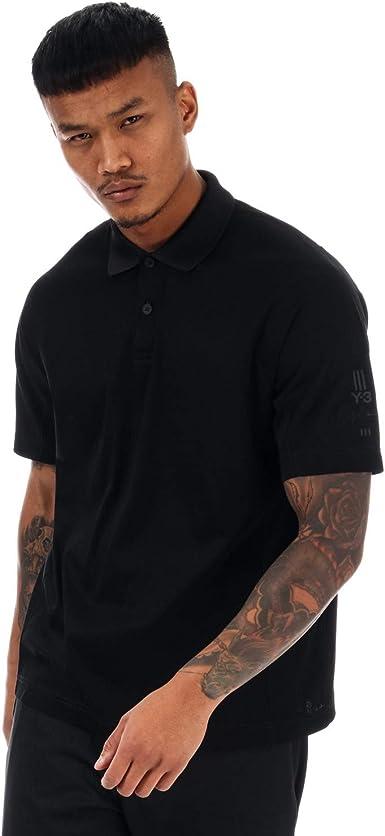 Y-3 Brazo Logo Polo Camiseta Negro Negro XL: Amazon.es: Ropa ...