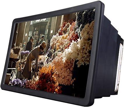 Shhjjpy 3D Amplificador De Video Pantalla del Teléfono Móvil Lupa Portátil HD Smartphone Película Alta Definición Proyector Inteligentes Soporte Plegable,Negro: Amazon.es: Deportes y aire libre