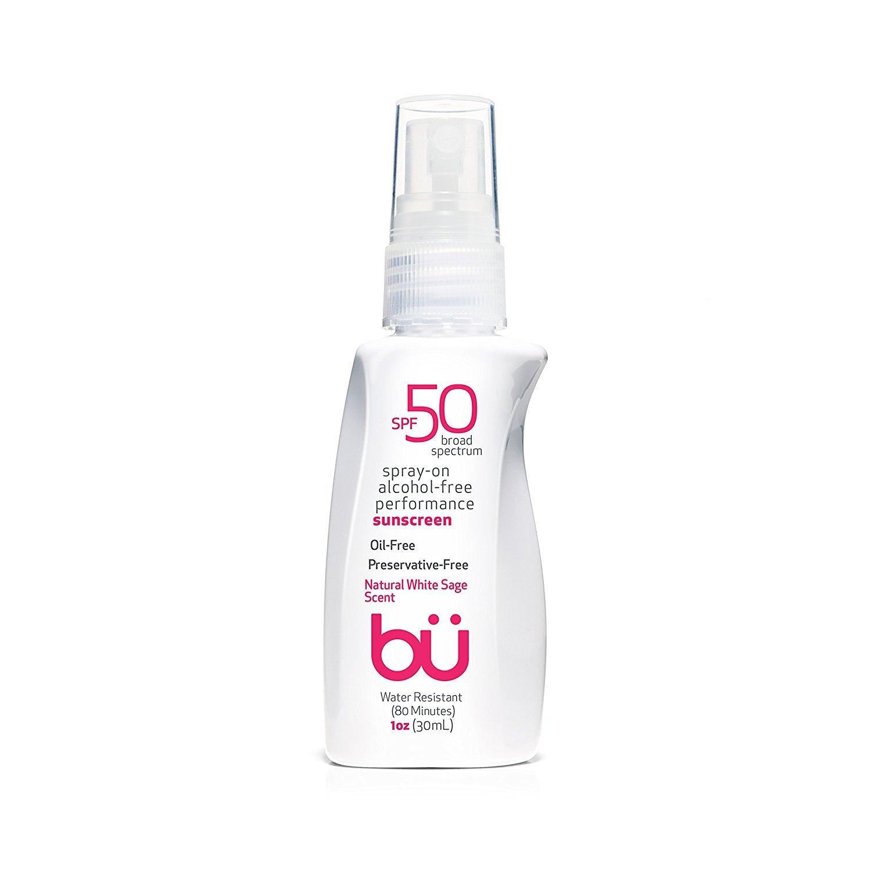 Amazon Com Bu Spf 50 Sunscreen Spray Nature S Sun Block Reef Safe Biodegradable Waterproof