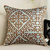 DXG&FX European-style embroidered sofa cushions pillow bedside by pillow huge pillows-J 30x42cm(12x17inch)