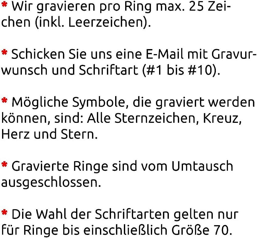 Zwei Freundschaftsringe Verlobungsringe Partnerringe Ecilia Edelstahl inkl Juwelier Sch/önschmied pers/önliche Wunschgravur Nr15HH