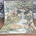 Yilong Carpet 6'x7.6' Handmade French Aubusson Wool Carpet Fountain and Trees Wall Hanging Tapestry Pictorial Handmade Wool Rug Au336x7.6