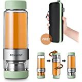 Tea Infuser Bottle Tumbler Travel Mug ROMAUNT Twist Valve System Design Control Tea Concentration 14oz / 390 Ml Double Wall Tritan Bpa Free Body Compatible With Coffee Bag Green color