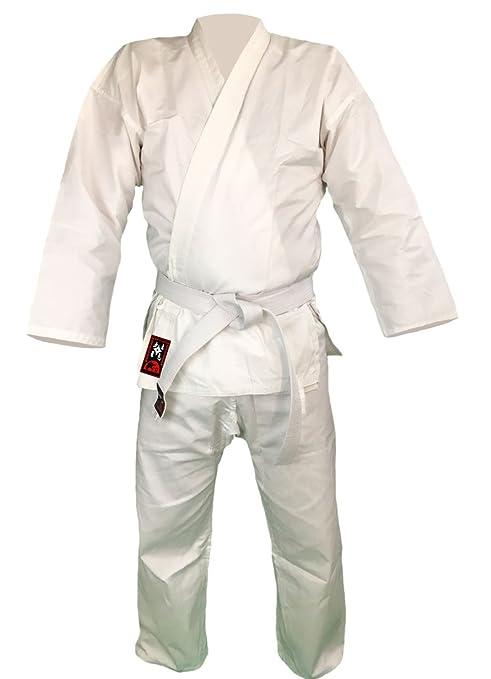 Budodrake traje de Karate Bushido 110cm blanco 8oz Karate Gi ...