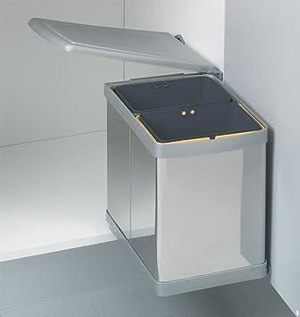 wesco einbau abfallsammler 15l (2x7,5l einsatz) edelstahl ... - Abfalleimer Küche Einbau