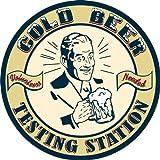 Beer Testing Station Metal Sign