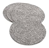 Saro LifeStyle 2282.S15R  Beaded Design Placemat , Silver, 15'' (Set of 4 pcs)