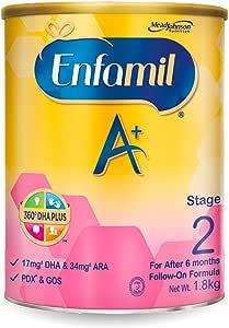 Enfamil A+ Stage 2 Follow-on Milk Formula 360 DHA+ , 6 months onwards, 1.8kg