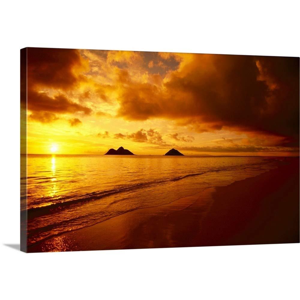 Amazon Com Hawaii Oahu Lanikai Beach Orange Sunrise Over
