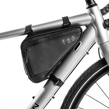 WOTOW Bolsa de triángulo de Bicicleta, Bolsas de Cuadro Negras ...