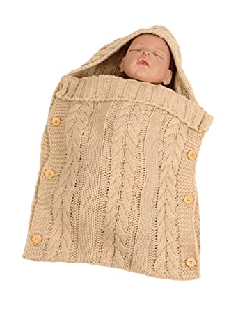 Zhhlaixing Neugeborenes Baby Kinder Gestrickte Decke Schlafsack