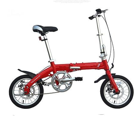 Bici Pieghevole In Alluminio.Masleid 14 Pollici In Lega Di Alluminio Bici Pieghevole A Doppio
