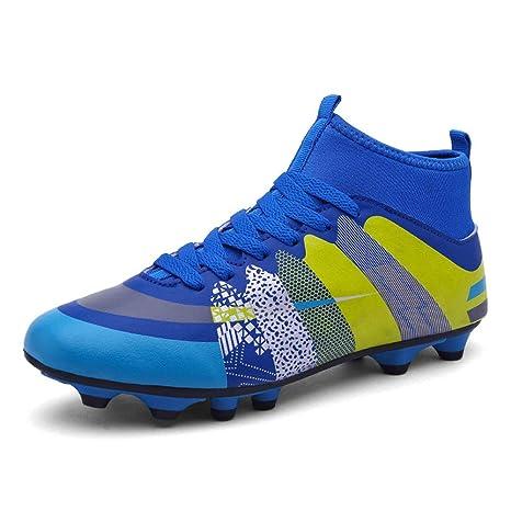 HRN Zapatillas de fútbol para Hombres Las uñas largas Las Zapatillas de Entrenamiento Transpirables se Atan