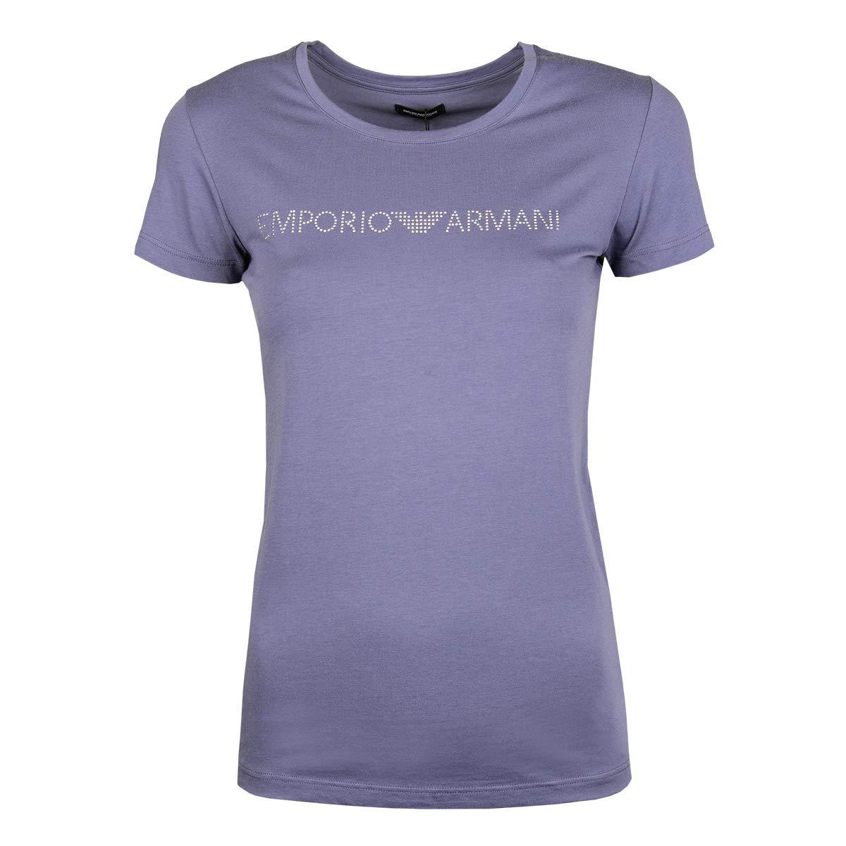 b802eb3e339e Emporio Armani T-Shirt Woman Short Sleeve Crew Neck Shirts Item 163139  8P263: Amazon.co.uk: Clothing