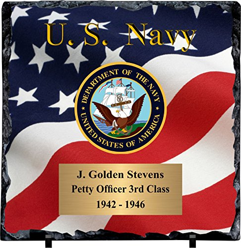 - Awards, Trophies and Plaques Personalized Navy Slate Plaque