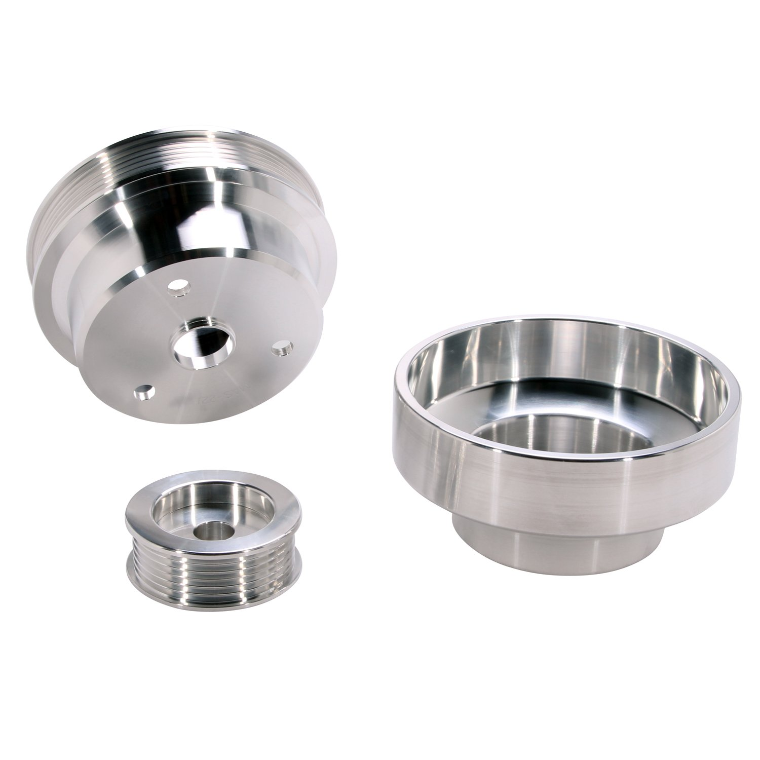 BBK 1603 Underdrive Pulley Kit for GM Truck 4.3/5.0/5.7L - 3 Piece CNC Machined Aluminum by BBK Performance (Image #3)