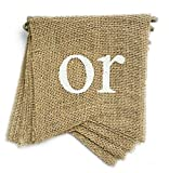 dealzEpic - BOY OR Girl - Rustic Burlap Banners for Baby Shower or Gender Reveal Party Decorations - Swallowtail Shaped Banners