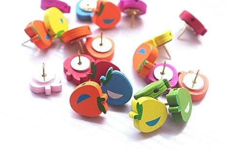 Amazon.com : 20 PCS Apple Push Pins Thumb Tacks, Cute Thumb Tacks ...