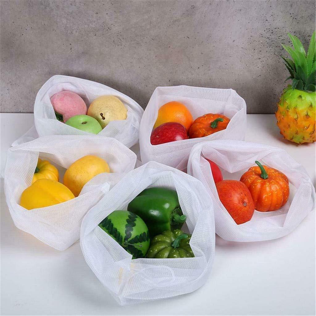 Loneflash Storage Bag Multipurpose Reusable Mesh Storage Bag Washable Fruit and Vegetable