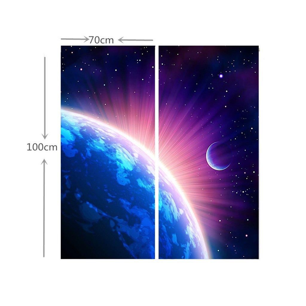 Galaxy Shining Star 3D Blockout Photo Curtain Print Curtains Drape Fabric Window